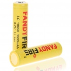 LC Protected 18650 Rechargeable 3.7V 3600mAh Lithium Ion Batteries Yellow (Pair) (Batteries Category)